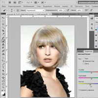Изменить цвет волос в фотошопе онлайн