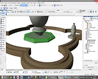 Моделирование фонтана в ArchiCad