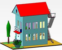 Создание дома в Компас 3d