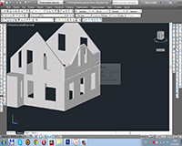 Как начертить дом в AutoCAD